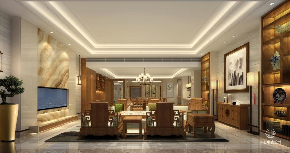 中式别墅设计·中式会客厅