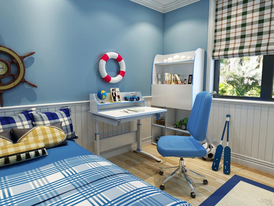 儿童房,电脑桌,坡地校园效果图,儿童电脑桌书桌书柜景观设计效果