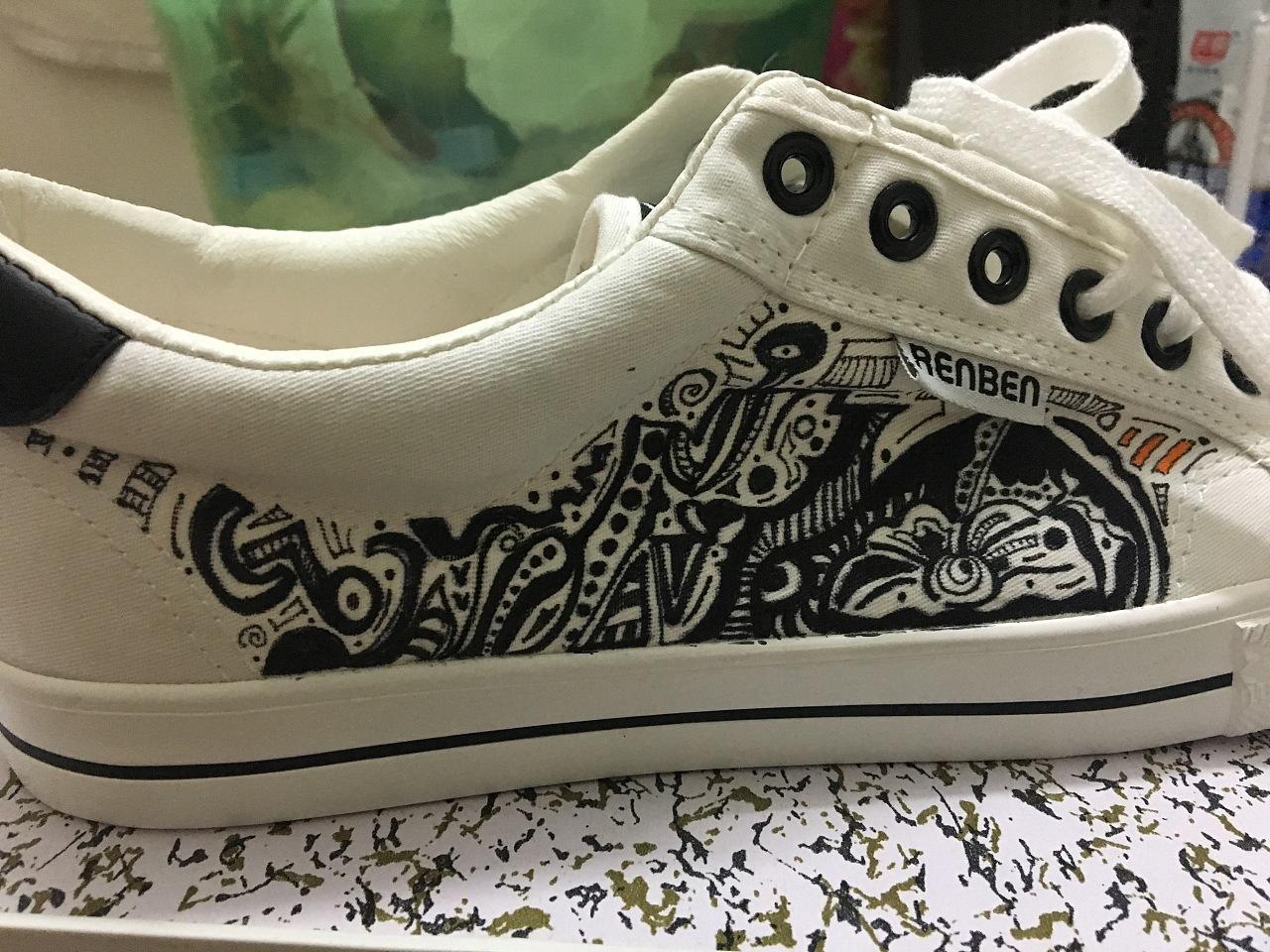 鞋子涂鸦简笔画