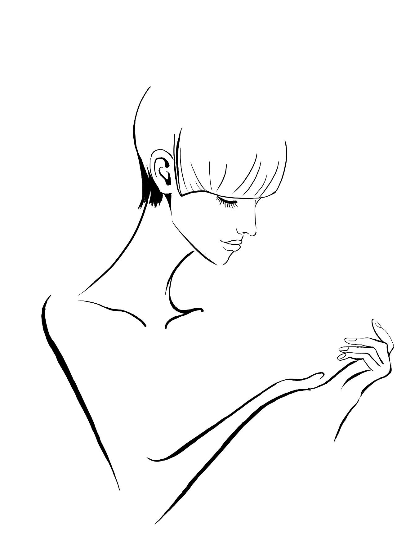 美女线条系列