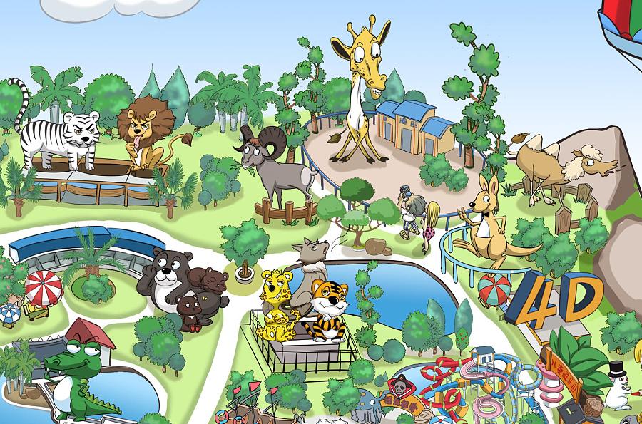 动物园手绘图片