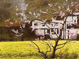 《烟花三月》原创油画作品