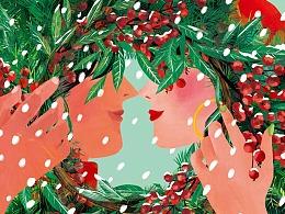 2019年bobloom商业插画海报集合:圣诞节