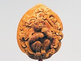 《灵猴》桃核雕刻