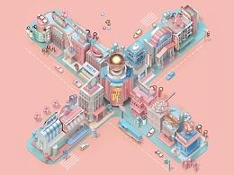 《 X 模拟城市》for 寺库SECOO十周年