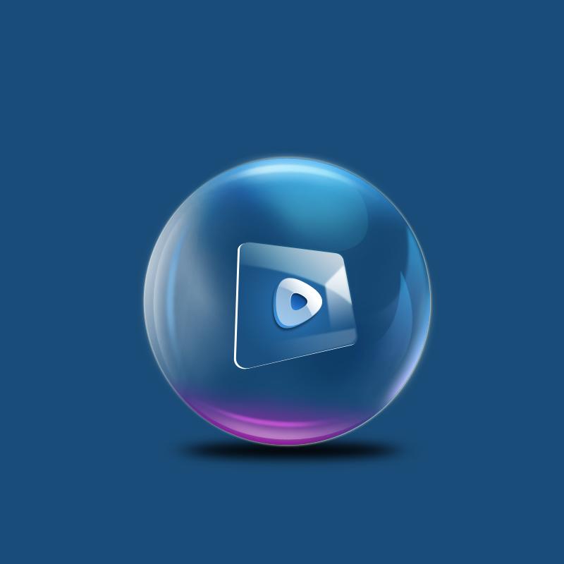 彩色水晶球