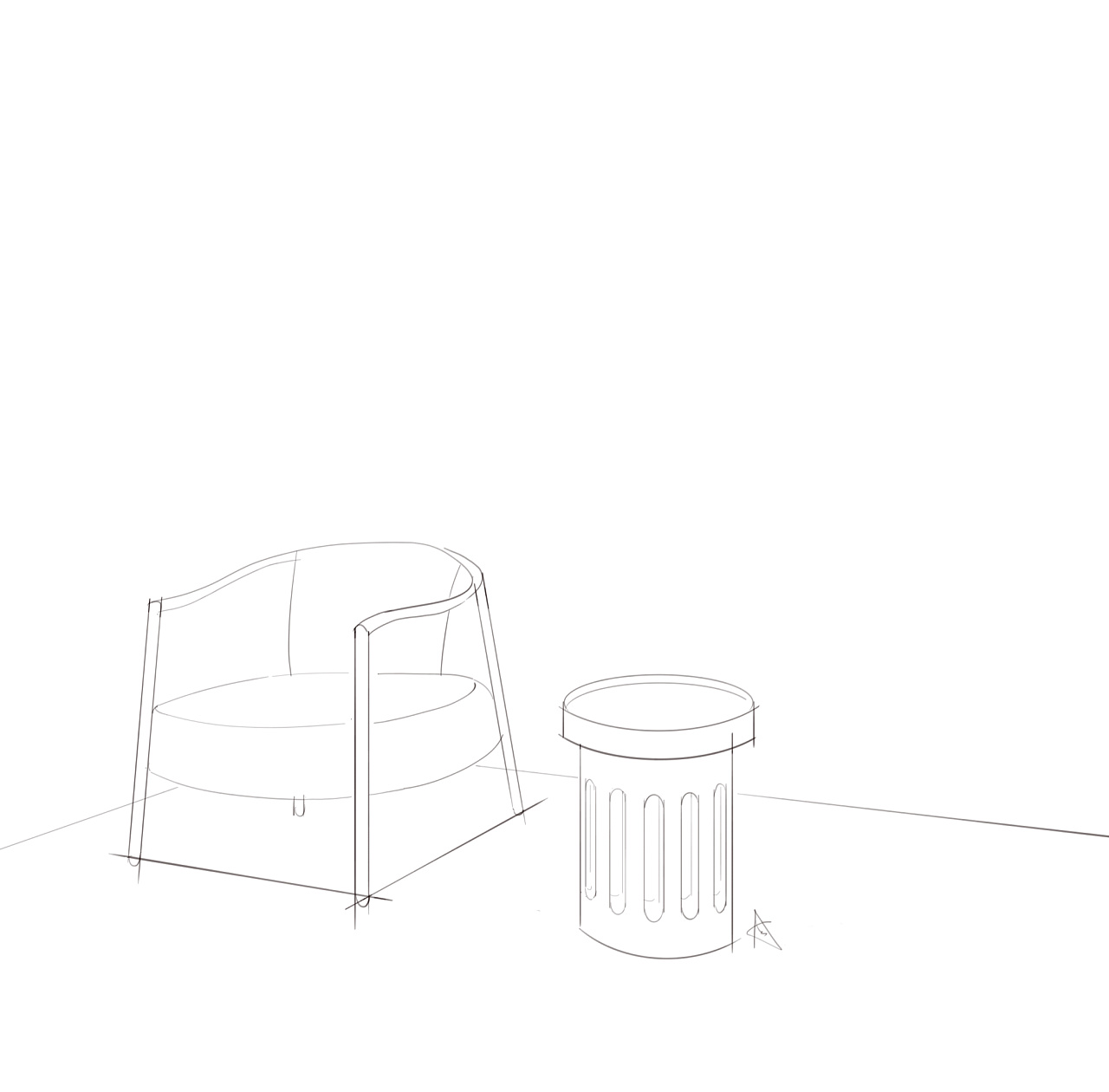 单体线稿(手绘)