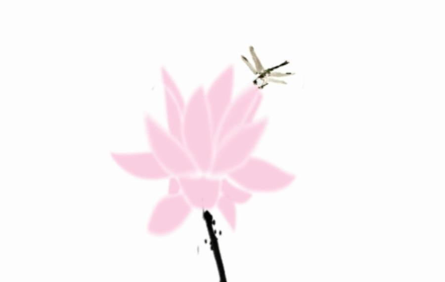 CDR原创影视水墨出水莲|绘制短片|动画|xig1广告设计v影视命题图片