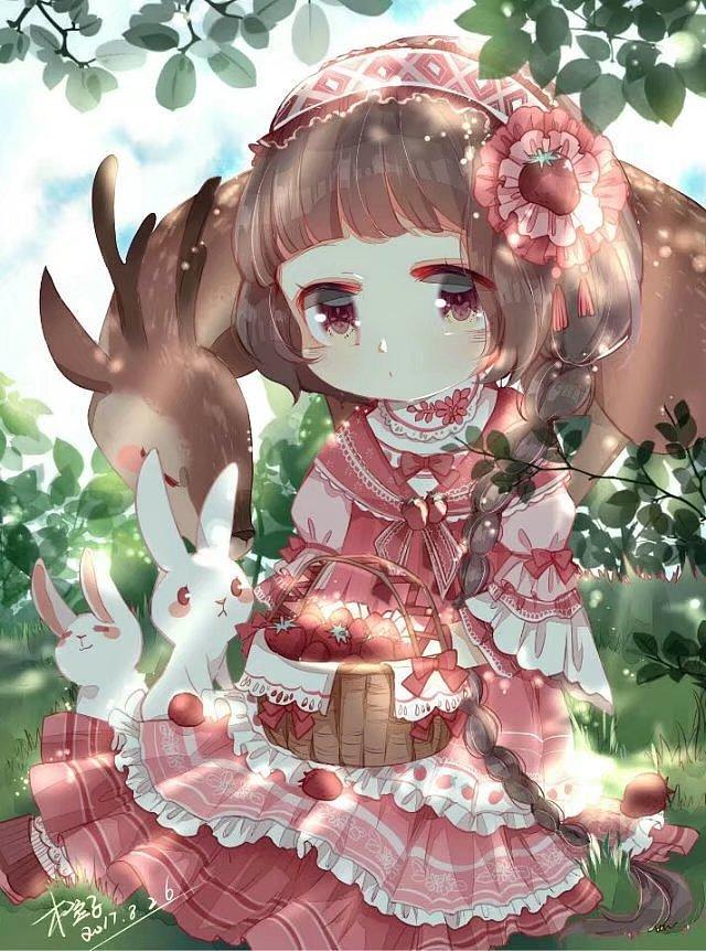 奇迹暖暖q版草莓娘