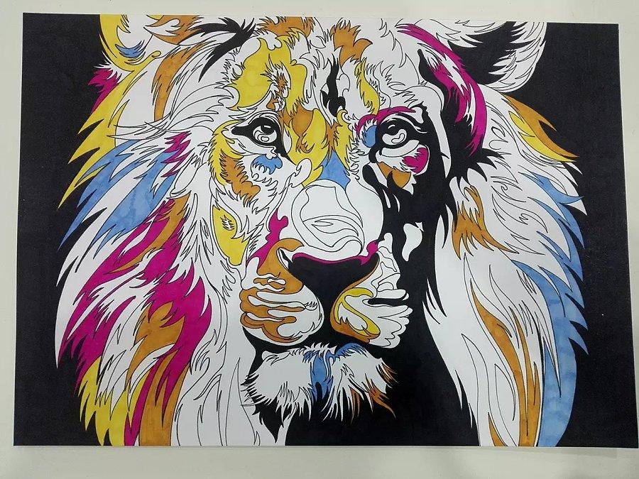 马克笔_狮子