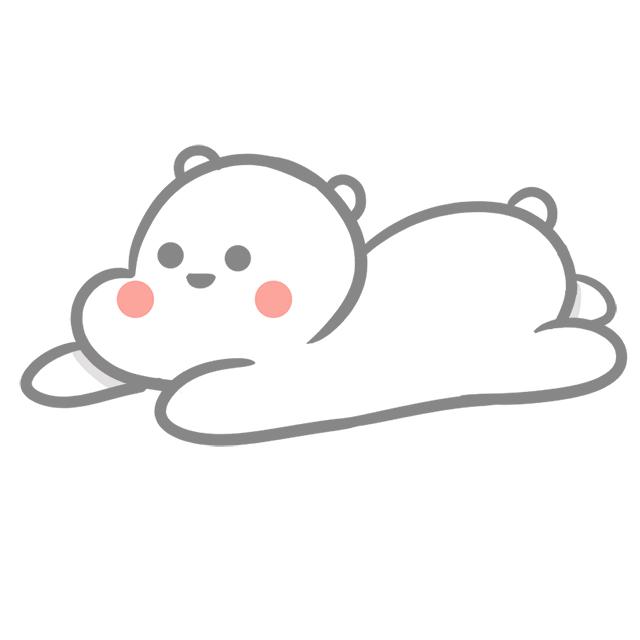 白熊小贴纸|单幅漫画|动漫|Echo田林 - 原创设计