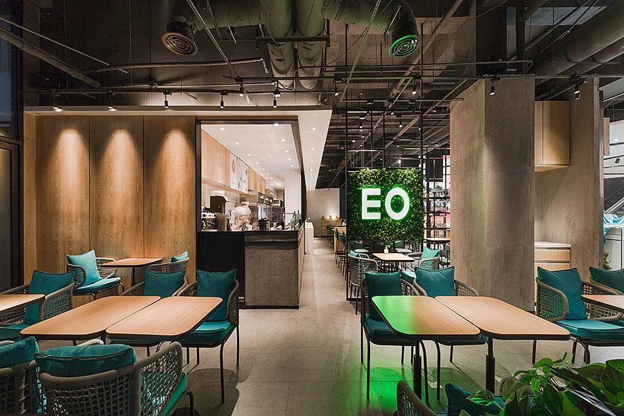 轻餐店 · 餐饮空间设计_EO蔬果料理沙拉店 华强北