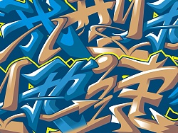 宝马体验中心涂鸦设计