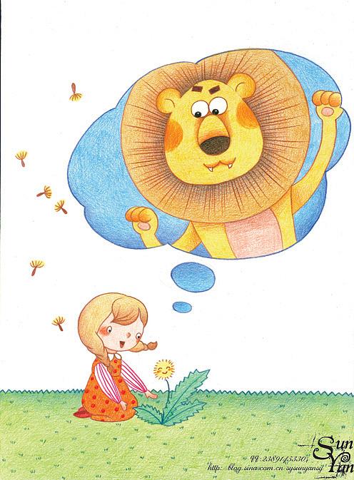 末末的彩铅世界—手绘画报故事插图(2) 插画 儿童插画
