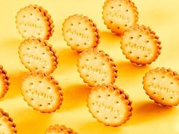 日式小圆饼干拍摄