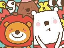 麦格动物园卡通形象与儿童产品设计(VI,logo,包装)