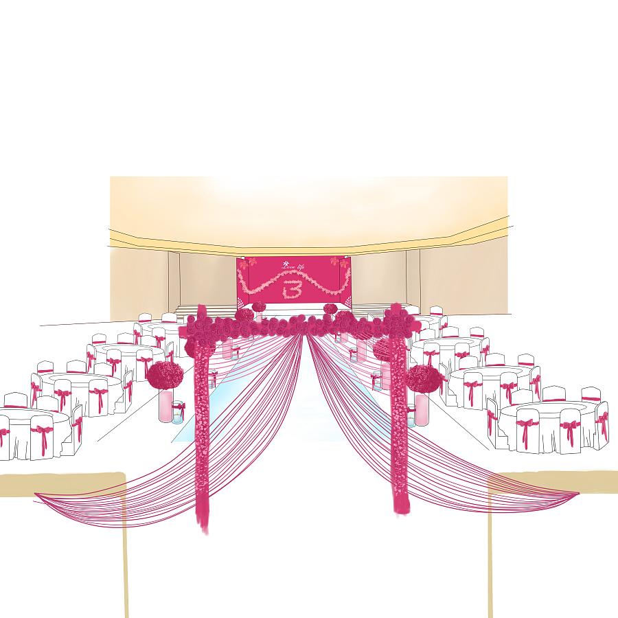 年前的婚礼策划手绘图