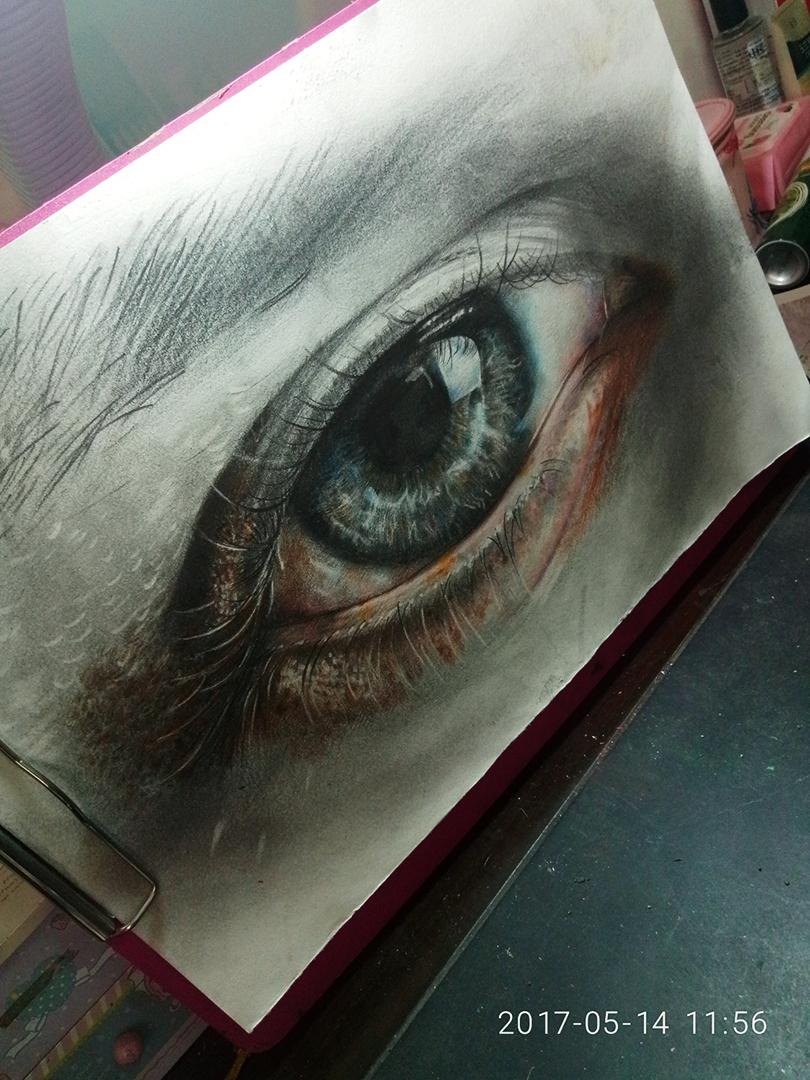 彩铅手绘眼睛