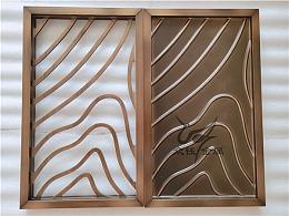 各种款式的铝艺雕刻镂空屏风格栅