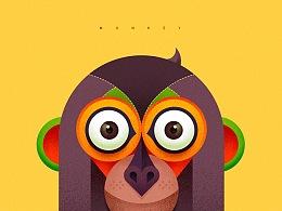 一组动物插画