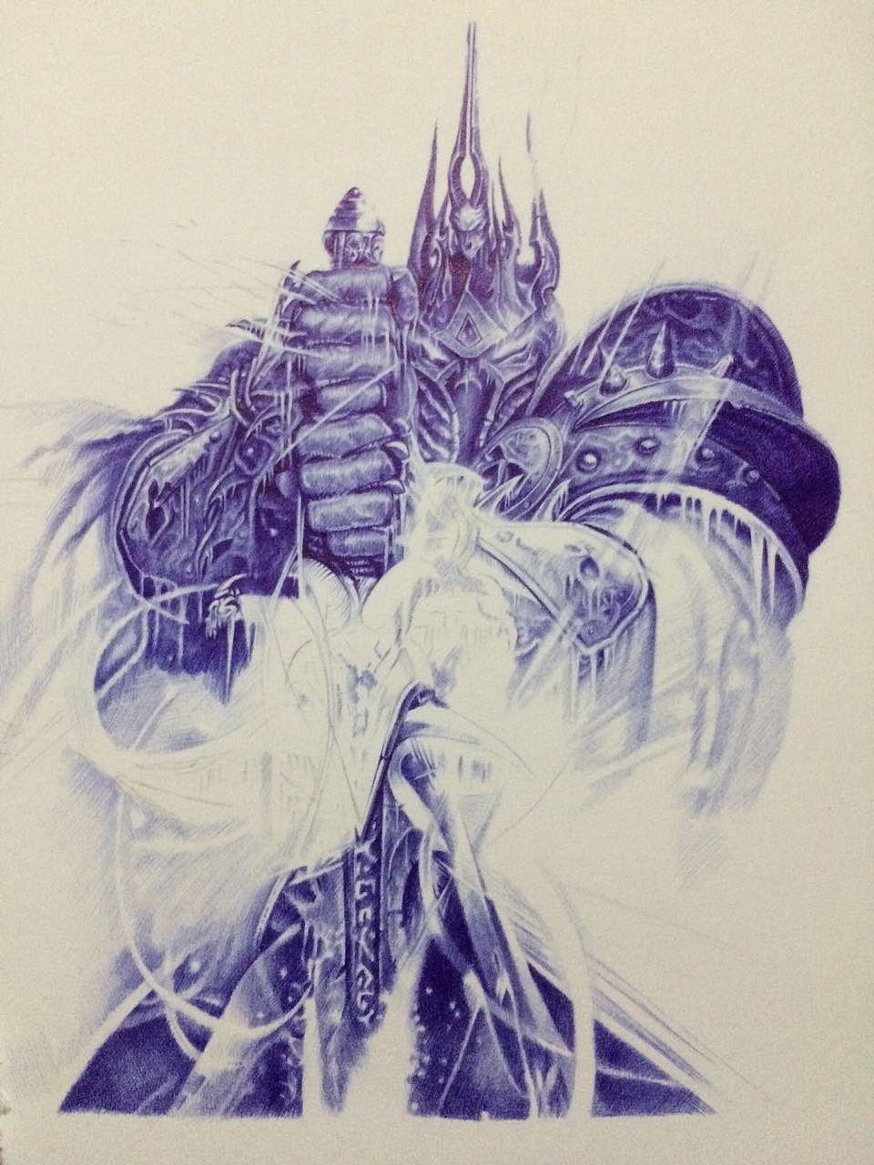 魔兽争霸系列等y_lovely圆珠笔手绘