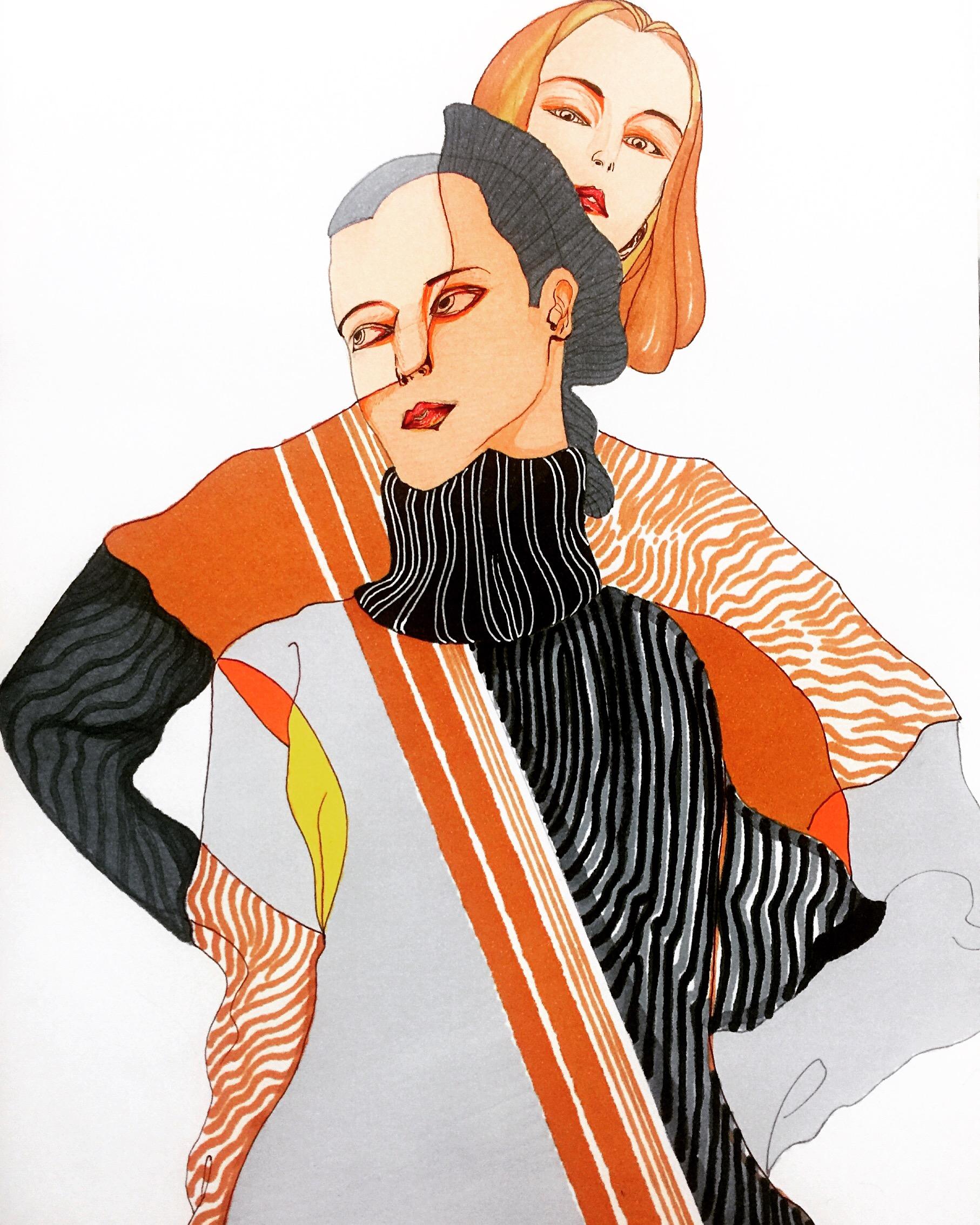 马克笔手绘人物|插画|插画习作|enyayu - 原创作品