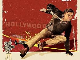《好莱坞往事》复古海报制作