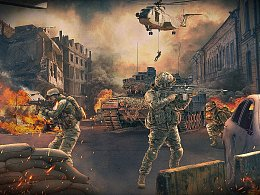 军事合成小海报