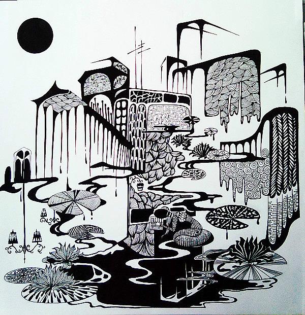 装饰画手绘系列图片