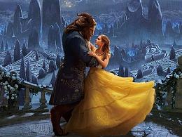 迪士尼美女与野兽合成电影海报