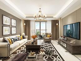 华侨城大平层装修效果图,嘉陵江天145平户型设计方案
