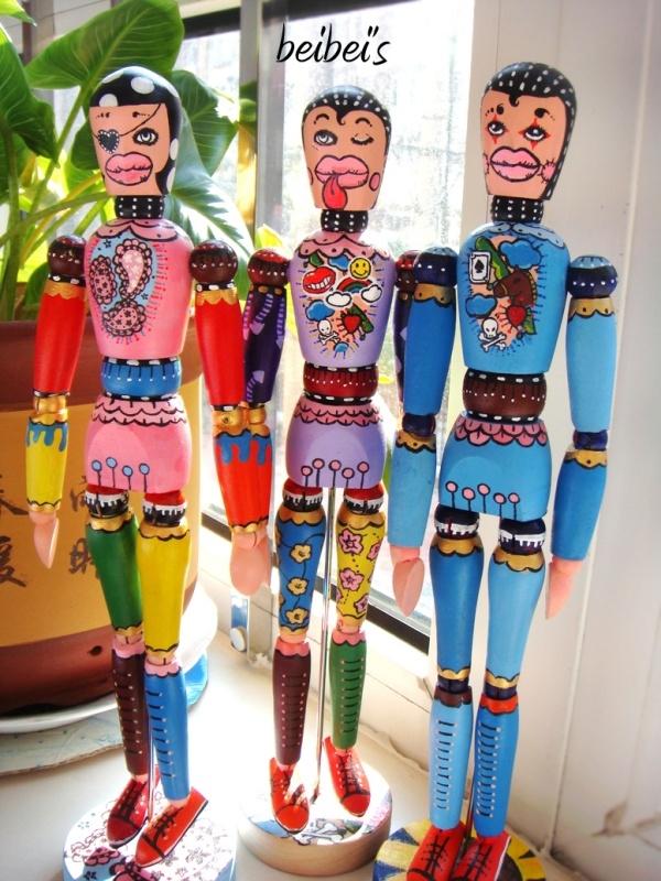 我说123~木头人|模型/平台玩具|手工艺|呗児