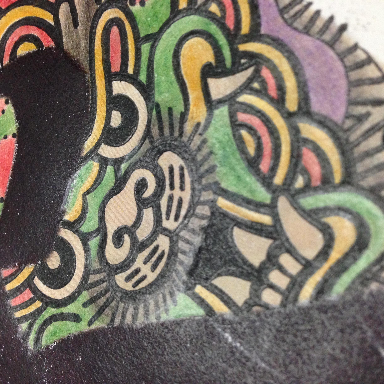 日式和风浮世绘鬼脸手绘插画