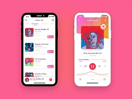 iPhone X music player 页面