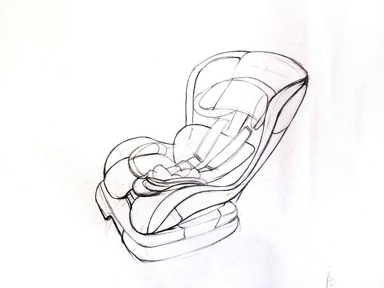 安全座椅手绘