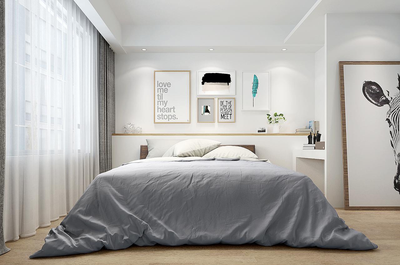 北欧卧室|空间|室内设计|羊小明 - 原创作品 - 站酷