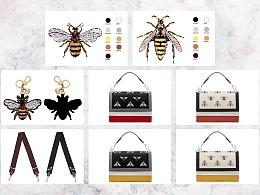 2017箱包手袋设计原创作品集合——蜜蜂系列