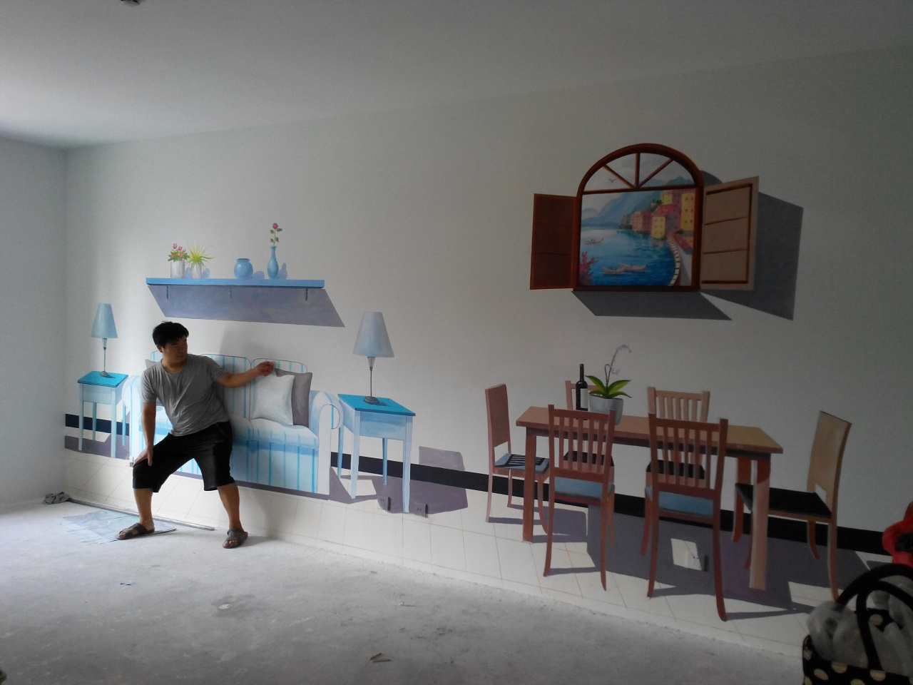 青岛绘美时尚装饰工程有限公司墙绘案例分享9