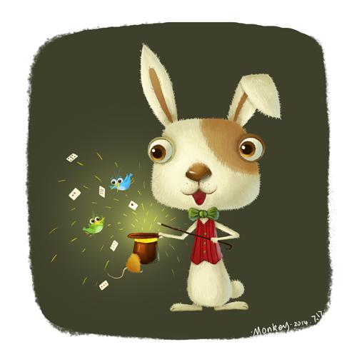查看《动物练习 兔子 鹿》原图,原图尺寸:500x500