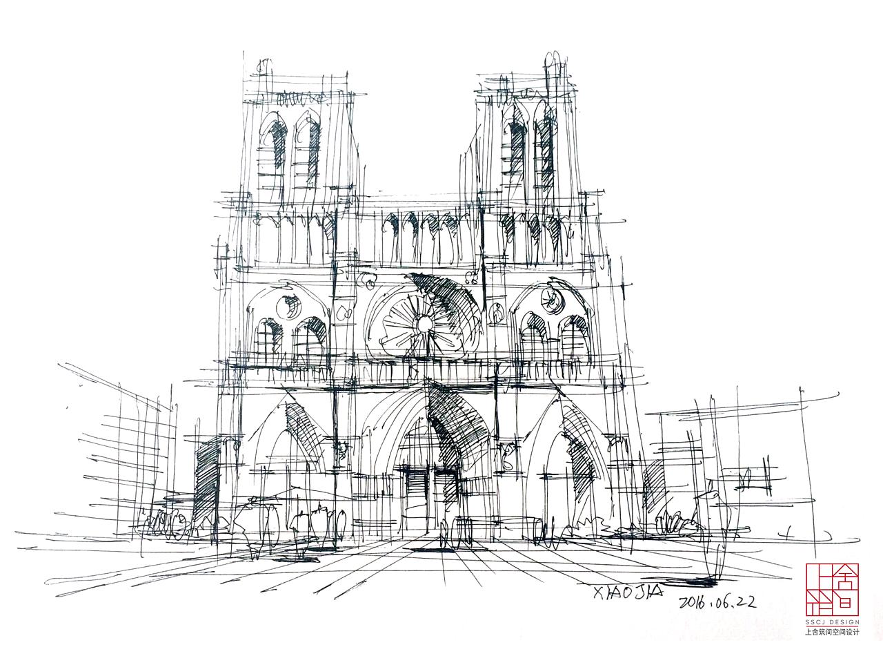 快速建筑手绘