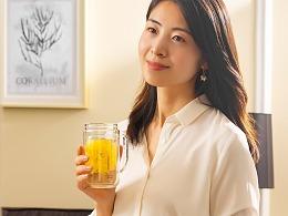 商业拍摄-透明水杯
