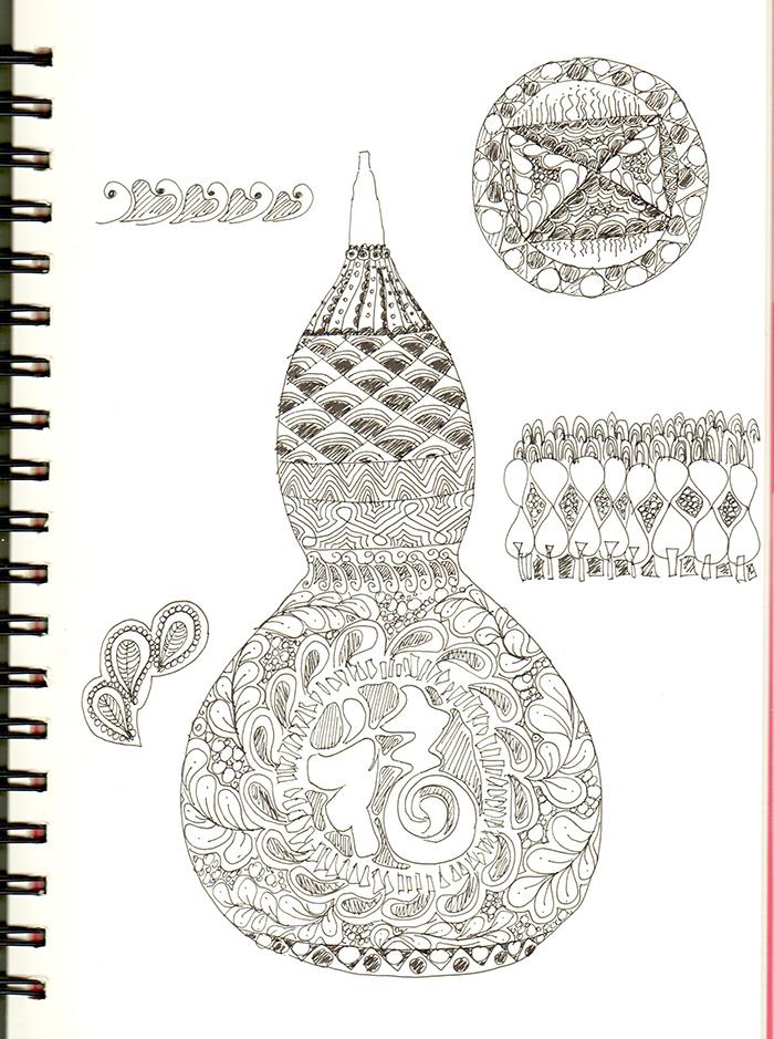 手绘葫芦过程