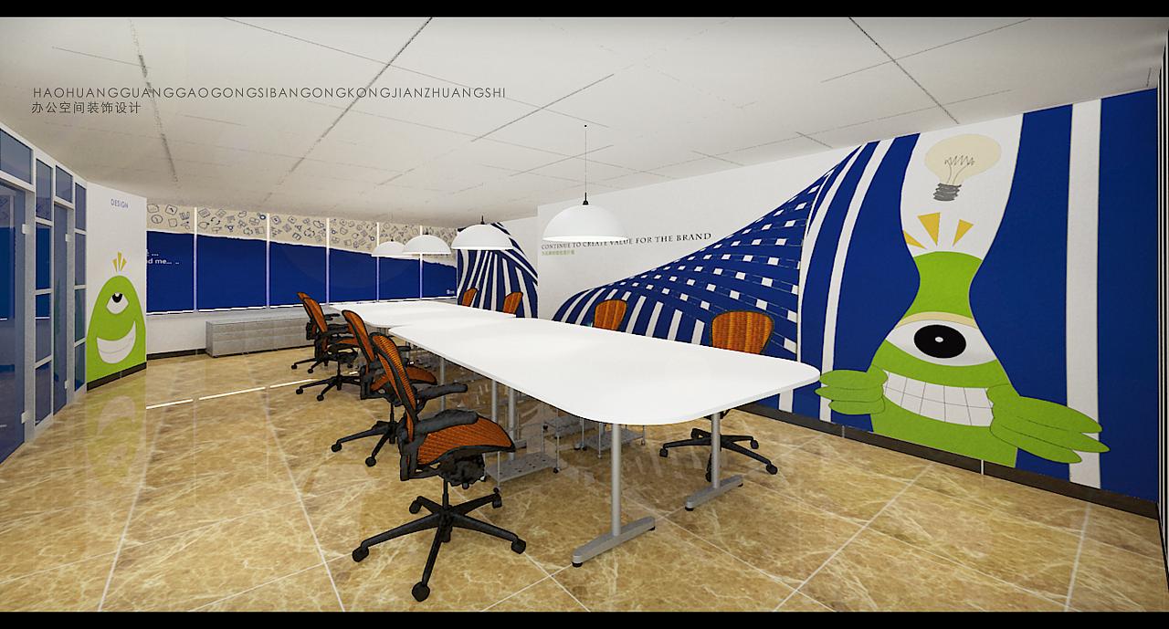 办公空间创意装饰|空间|室内设计|a345768170 - 原创