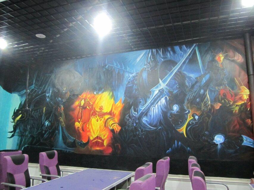 3d手绘 墙体绘画 室内设计|展示/橱窗/店面设计|空间