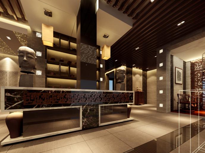 内江茶楼设计丨盛皇茗茶茶楼设计装修|室内设计|空间