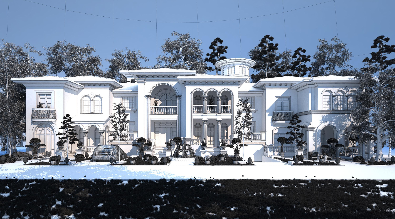 欧式别墅景观设计图片
