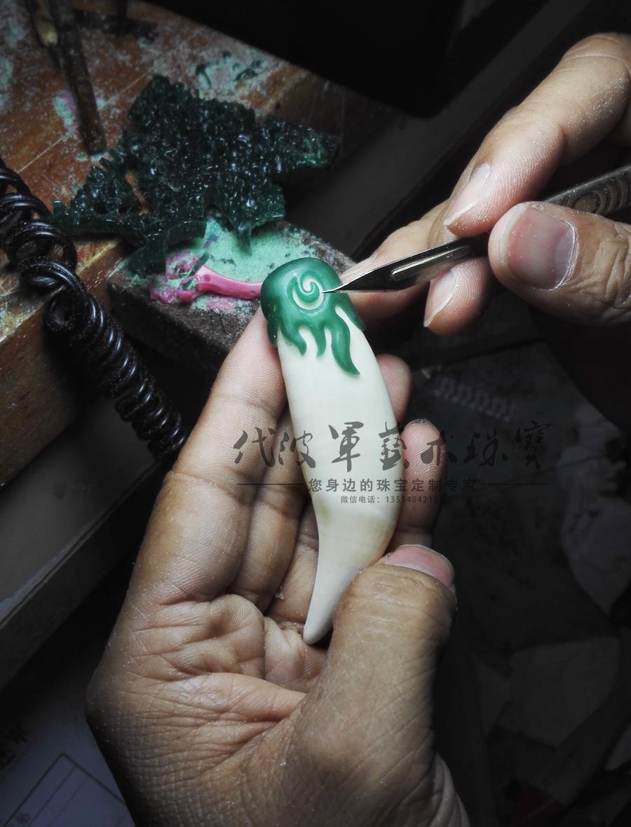 查看《代波军艺术珠宝定制----沉香镶嵌设计与牙镶嵌设计作品欣赏》原图,原图尺寸:900x1180