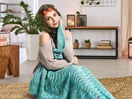 美人鱼毯子