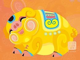 猪年贺图(中国风新年贺图)