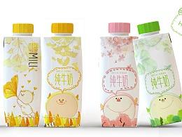 """""""嗨 Milk""""蒙牛牛奶包装设计"""